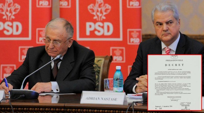 Ion Iliescu și Adrian Năstase