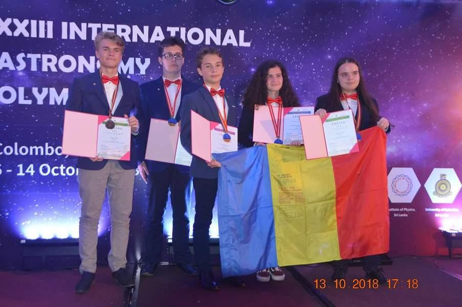 PERFORMANŢĂ. Elevii români, medaliaţi la Olimpiada Internaţională de Astronomie