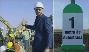 Ștefan Mandachi inaugurează primul metru de autostradă construit în Moldova
