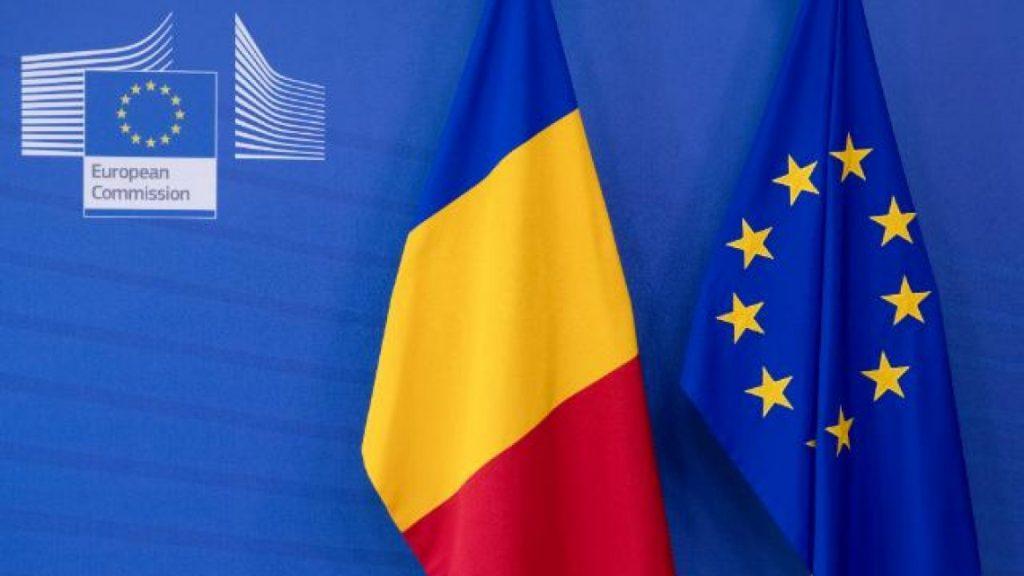 Steagul României şi al Uniunii Europene
