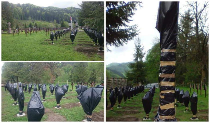 Percheziții în Harghita în dosarul profanării crucilor din Cimitirul eroilor din Valea Uzului
