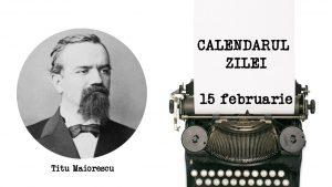 180 de ani de la naşterea lui Titu Maiorescu