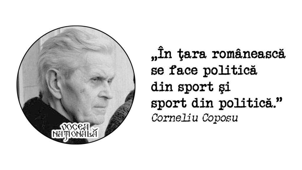 În ţara românească se face politică din sport şi sport din politică.
