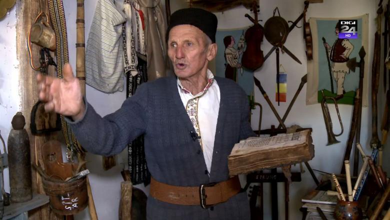 Un fost cioban din Vrancea a făcut un muzeu cu obiecte tradiţionale