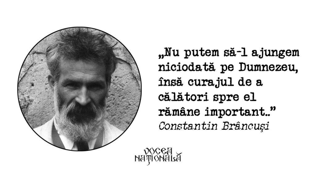 Nu putem să-l ajungem niciodată pe Dumnezeu, citat de Constantin Brâncuşi