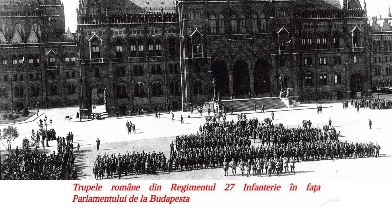Ocuparea Budapestei de către Armata Română. Campania militară și opinca de pe Parlamentul maghiar