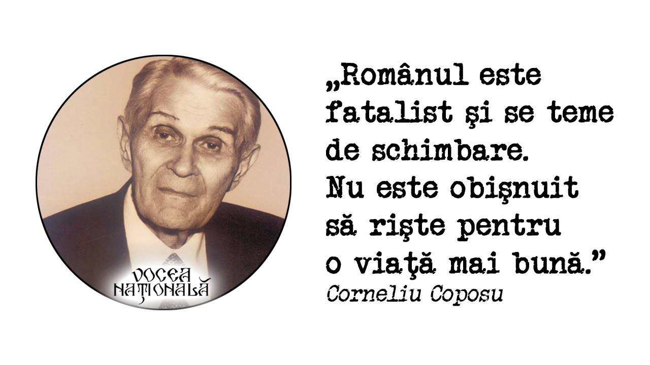 Românul este fatalist şi se teme de schimbare. Nu este obişnuit să rişte pentru o viaţă mai bună.