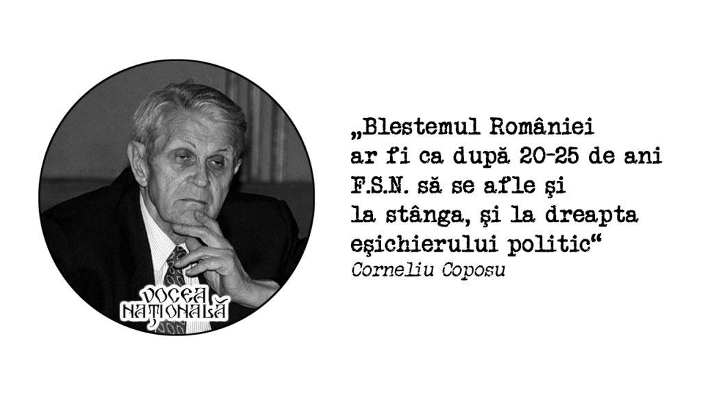 Blestemul României ar fi ca după 20-25 de ani F.S.N. să se afle şi la stânga, şi la dreapta eşichierului politic
