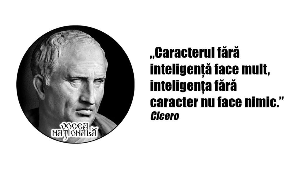Caracterul fără inteligență face mult, inteligența fără caracter nu face nimic.