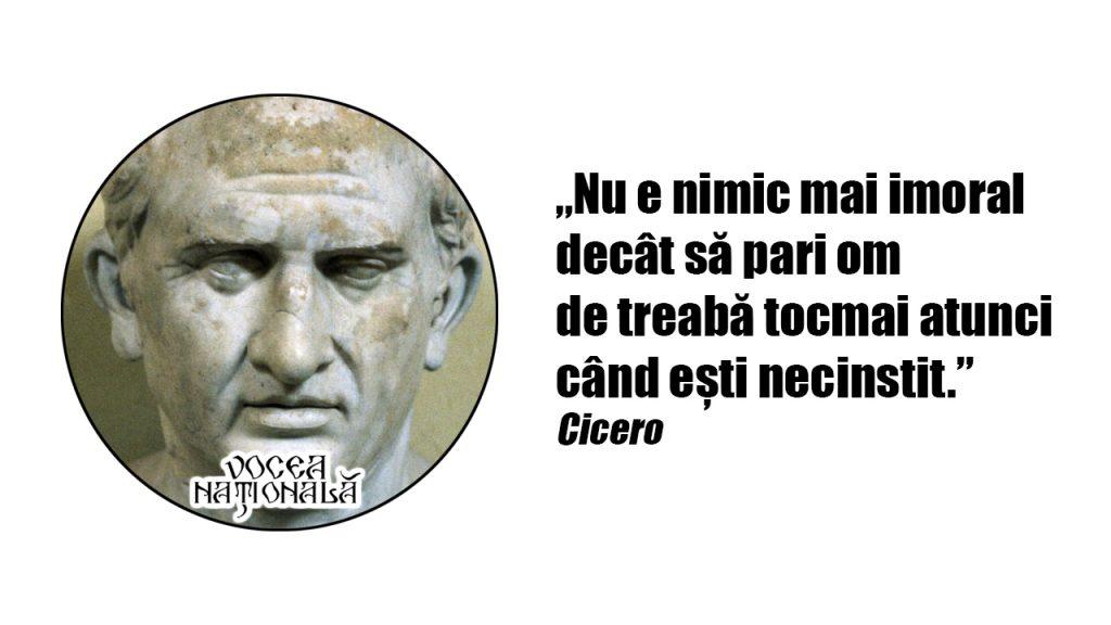Moralitatea și necinstea, citat de Cicero
