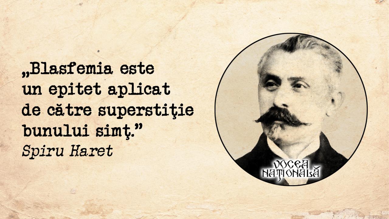 Blasfemia este un epitet aplicat de către superstiţie bunului simţ