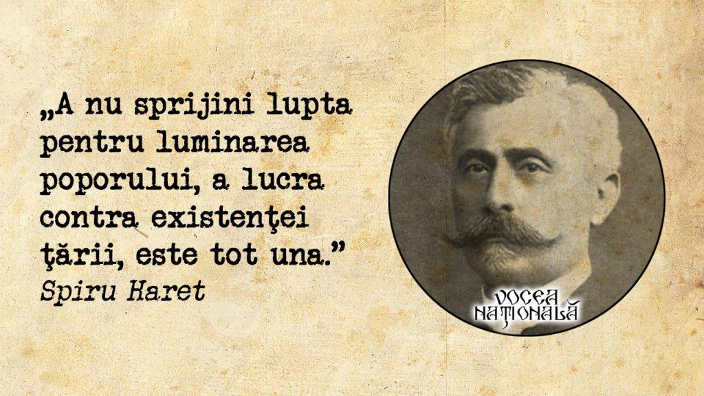 A nu sprijini lupta pentru luminarea poporului, a lucra contra existenţei ţării, este tot una