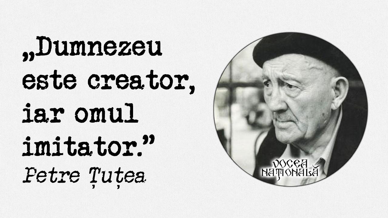 Dumnezeu este creator, iar omul imitator