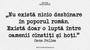 O luptă între oamenii cinstiți și hoți, citat de Oana Pellea