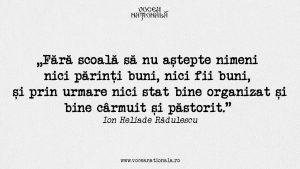 Fără școală, citat de Ion Heliade Rădulescu