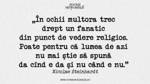 Lumea de azi, citat de Nicolae Steinhardt