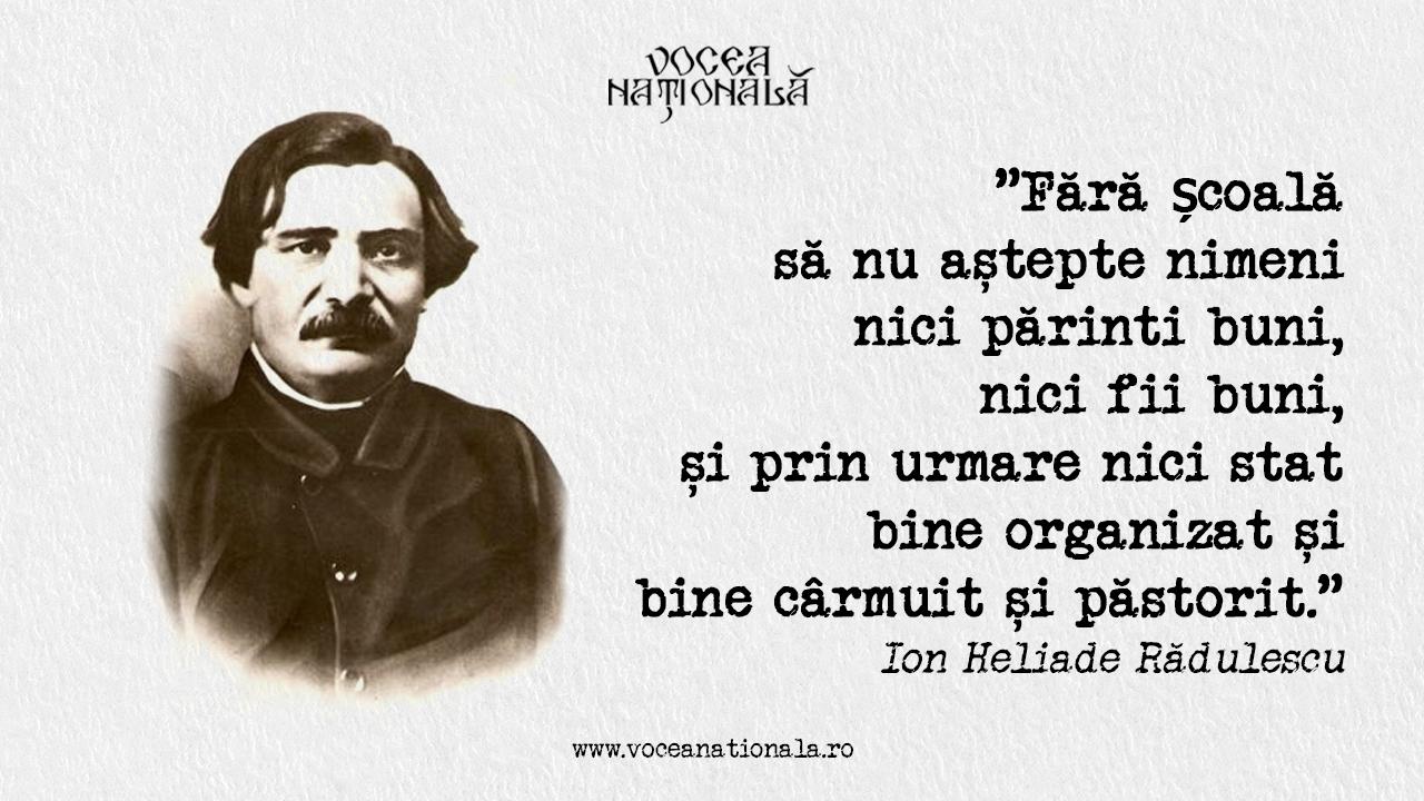 Ion Heliade Rădulescu, cel dintâi mare filolog al Valahiei