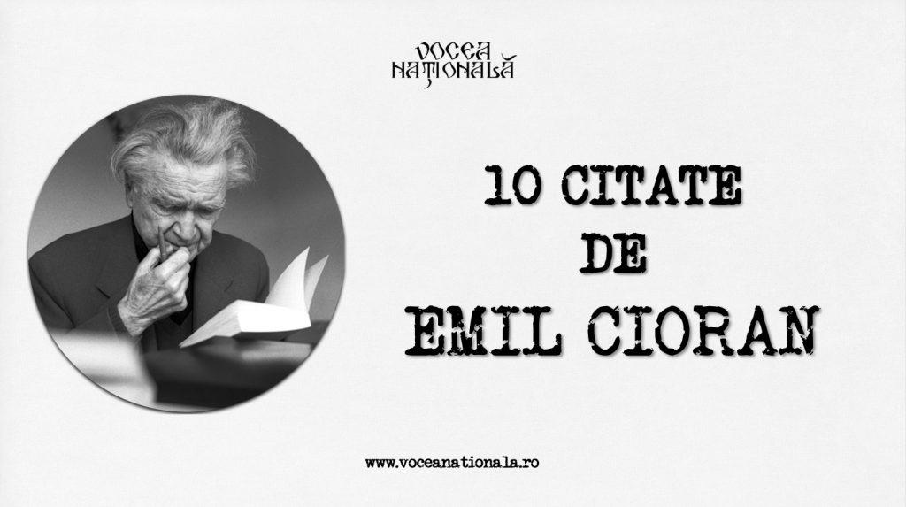 10 citate de Emil Ciora
