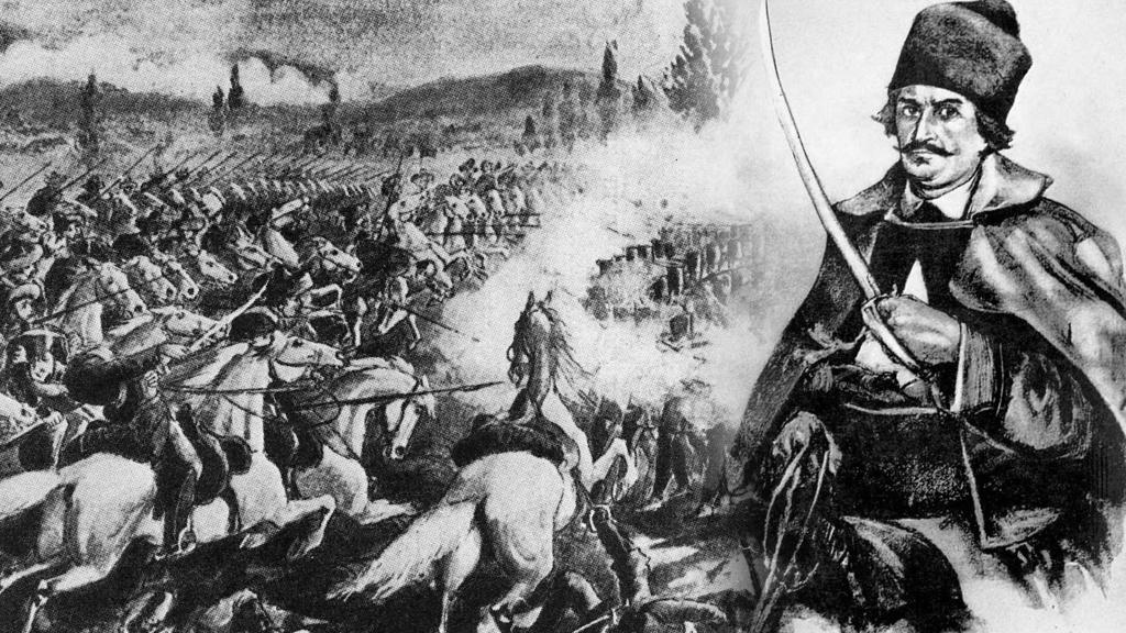Începutul bătăliei de la Abrud dintre trupele maghiare și moții din Munții Apuseni, conduși de Avram Iancu