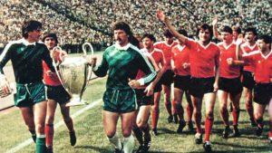 teaua București a cucerit, pentru prima dată în istoria fotbalului românesc, Cupa Campionilor Europeni.